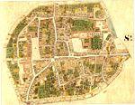 St. Pölten, Stadtplan, Francisceischer Kataster 1821.jpg