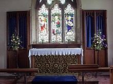 A simple shelf retable in Yorkshire St John's Church, Allerston - Interior - geograph.org.uk - 495774.jpg