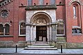 St Mary's Church entrance, Manchester by Anthony O'Neil Geograph 4197874.jpg