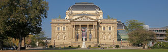 Hessisches Staatstheater Wiesbaden - The back of Großes Haus, from the park