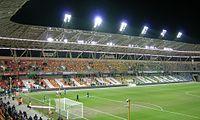 Stadion Miejski Bielsko-Biała trybuna wschodnia Février 2015.jpg