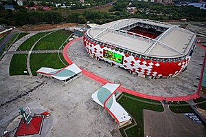 Football in Russia - Otkrytiye Arena is Spartak Moscow's home ground.