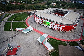 Football in Russia - Otkrytiye Arena is Spartak Moscow's home ground. It was opened in 2014.