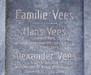 Col di Lana - Schärding, family memorial mentioning sapper corporal Hans Vees, killed in action on Col di Lana on 8 December 1915