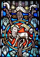 Stained glass Agnus Dei