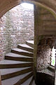 Stairway to the top of Great Tower, Raglan Castle - geograph.org.uk - 1531765.jpg