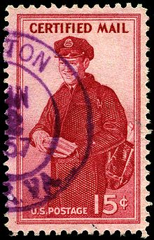 united states 15c certified mail stamp of 1955 postman scott catalog fa1 no further stamps were issued in this category