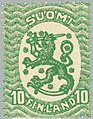 Stamp of Finland - 1920 - Colnect 45708 - Definitive series I-Lion type m-17 new colours.jpeg
