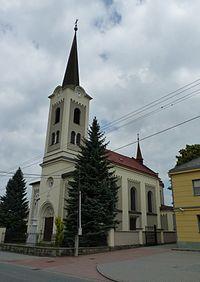Staré město - kostel, okres Frýdek-Místek.JPG