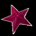 Star 3D magenta golden frame glossy.png