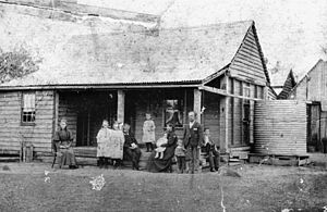 Bromelton, Queensland - Image: State Lib Qld 1 99928 Moloney family outside their home at Bromelton, ca. 1897