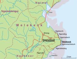 Location within Melekeok State