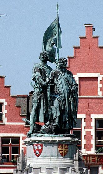 Jan Breydel - Statue of Jan Breydel and Pieter de Coninck in Bruges, Belgium