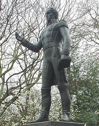 Belgrave Square - Statue of Simón Bolívar