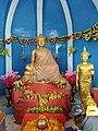 Statues of the Buddha in Vipassana Buddha Vihar at Aurangabad caves.jpg