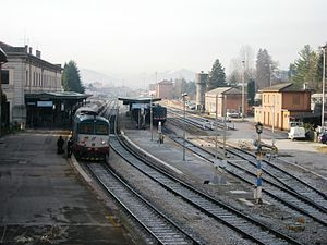 Belluno railway station - The station platforms and yard