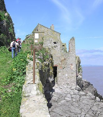 Steep Holm - The ruins of the old inn