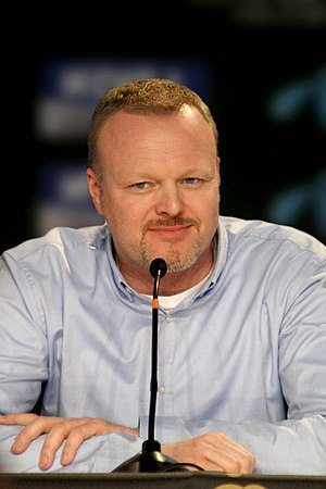 Stefan Raab - Stefan Raab at a Eurovision Song Contest 2010 press conference