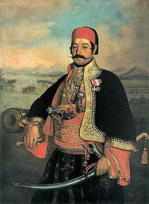 Stevan Knićanin - Stevan Knićanin, oil painting by Uroš Knežević, 1849
