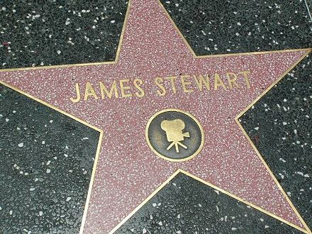 Stewart's star on the Hollywood Walk of Fame Stewart walk of fame.jpg