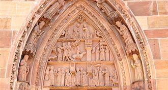 Niederhaslach Church - Image: Stiftskirche Niederhaslach Tympanon