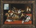 Stilleben föreställande döda fåglar på bord - Skoklosters slott - 13890.tif