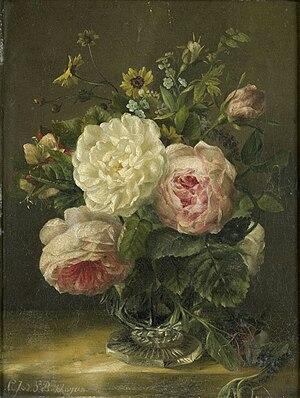 Gerardina Jacoba van de Sande Bakhuyzen - Image: Stilleven met bloemen in een kristallen vaas Rijksmuseum SK A 3878
