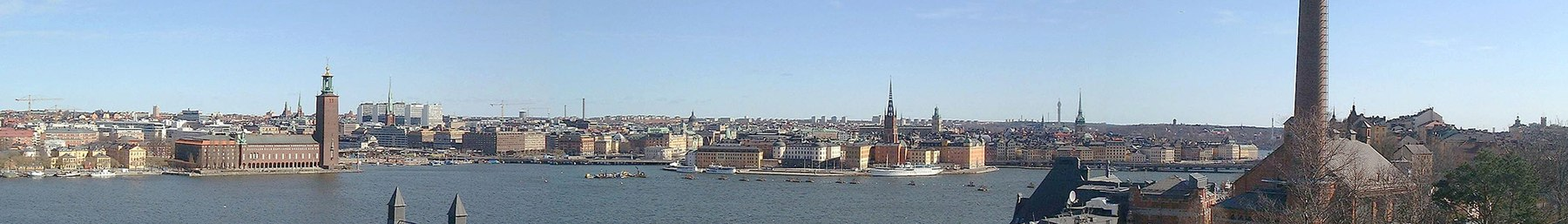 View from Södermalm towards Gamla Stan.