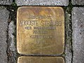 Stolperstein Auguste Strauss, 1, Bornheimer Landwehr 81 - 85, Bornheim, Frankfurt am Main.jpg