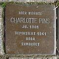 Stolperstein Charlotte Pins Coesfelderstr 43.jpg