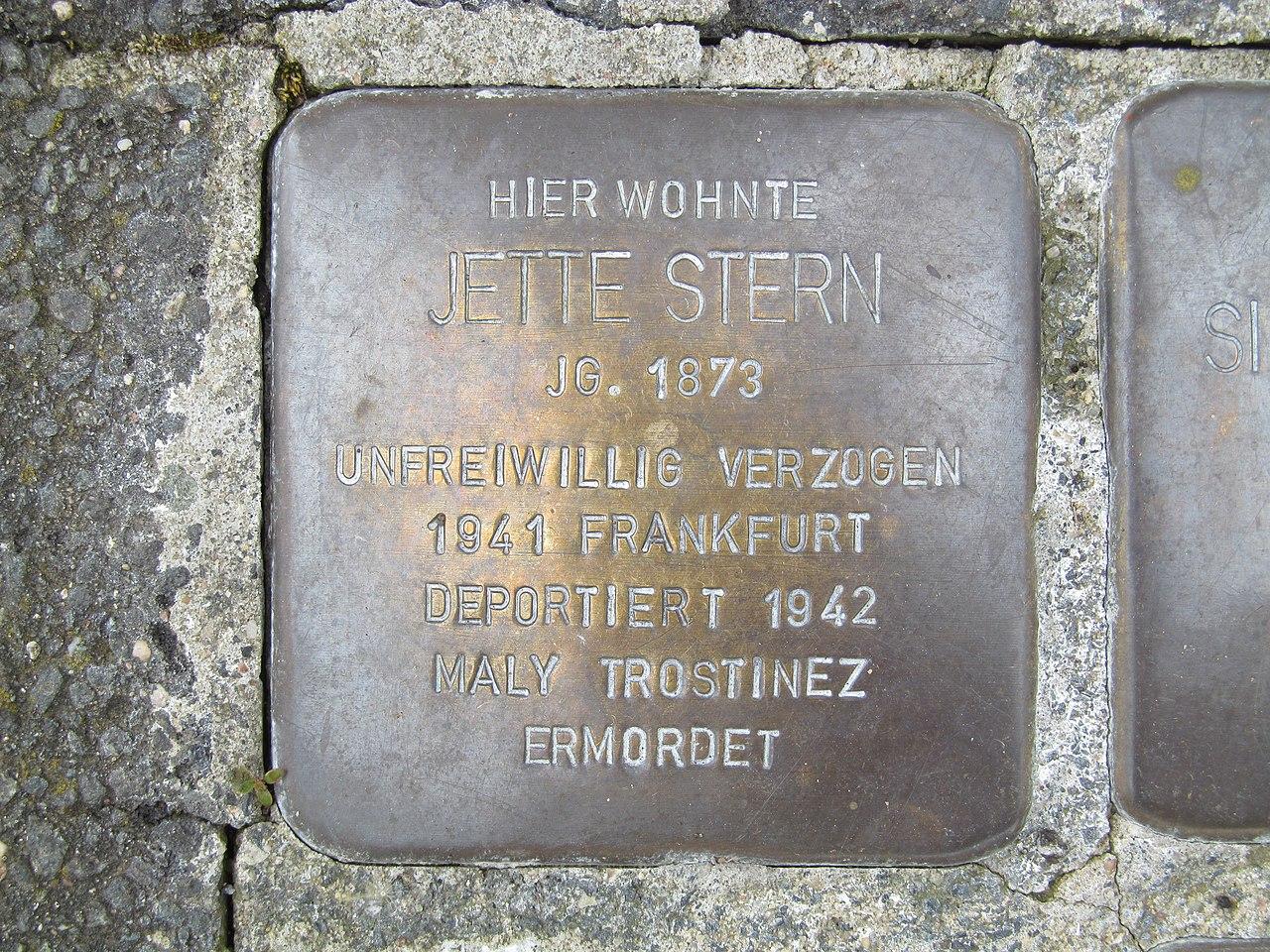 Stolperstein Jette Stern, 1, Lange Straße 2, Oberbrechen, Brechen, Landkreis Limburg-Weilburg.jpg