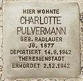 Stolperstein Lärchenweg 33 (Weste) Charlotte Pulvermann.jpg