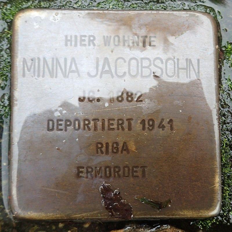 Stolperstein für Minna Jacobson