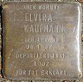 Stumbling blocks for Elvira Kaufmann (Mauritiussteinweg 30)