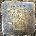 Stolpersteine K-Lindenthal Krieler Strasse 11 Aron Adolf Mondschein.jpg