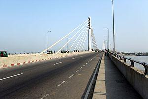 Shah Amanat Bridge - Image: Street view new bridge