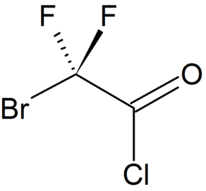Bromodifluoroacetyl chloride - Image: Structure of bromodifluoroacetyl chloride