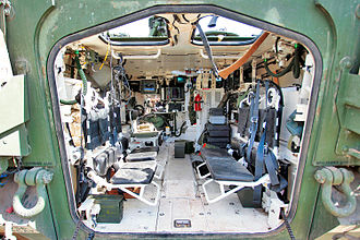 Stryker - Interior of a Stryker IFV