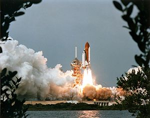 STS-9 - STS-9 launches from Kennedy Space Center, November 28, 1983.