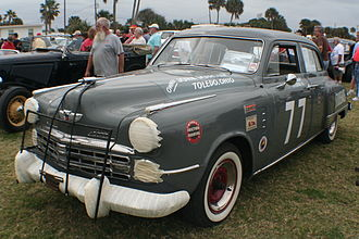 Monster Energy NASCAR Cup Series - A Studebaker driven by Dick Linder in the 1951 Daytona Beach Road Course race.