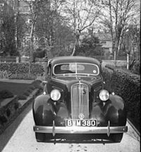 A British imported, right hand drive, 1936 Studebaker 4 door sedan