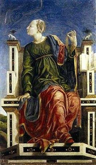 Studiolo of the Palazzo Belfiore - Image: Studiolo di belfiore, urania di angelo maccagnino e collaboratori di cosmè tura