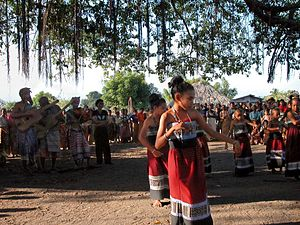Music of East Timor - East Timorese musicians and dancers in Suai (2010)
