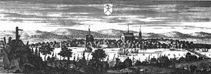 Sundsvall - Sundsvall circa 1700, in Suecia antiqua et hodierna.