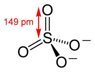 Sulfate anion