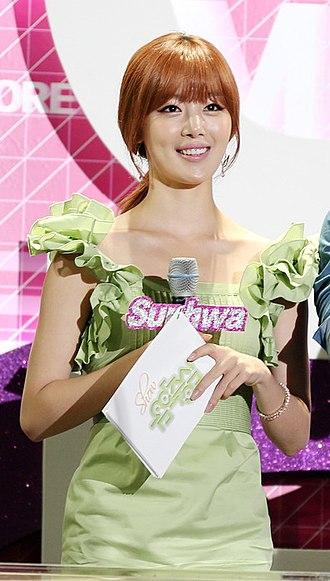 Han Sun-hwa - Sunhwa hosting Music Core in September 2012