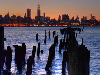 Midtown Manhattan from Liberty Harbor in Weeha...