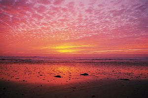 Cardiff-by-the-Sea, Encinitas, California - Sunset at Cardiff Beach