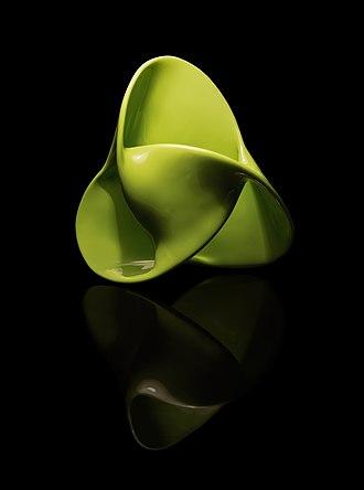 Trefoil knot - Image: Superfície bordo trifólio