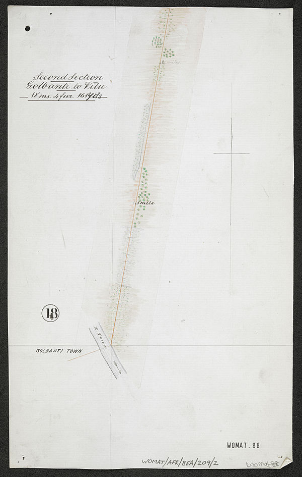 600px survey of telegraph line from melinde to lamu east africa. %28womat afr bea 209 2 18%29